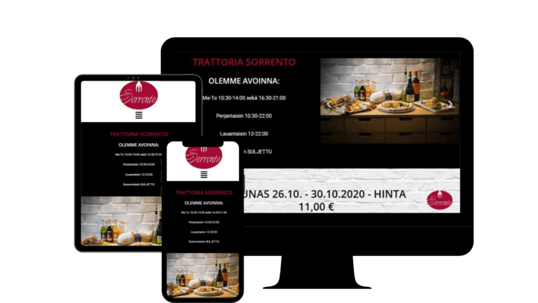 KS Future Investin asiakas Trattoria Sorrento